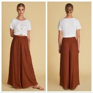 🍋 euc | sancia | linen blend wide leg pants